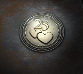 25 jahre - Herz - P