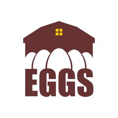 Chicken farm emblem. Egg Farm Logo. Poultry factory sign. Eggs production symbol