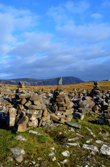 Stacks of Wishing Rocks at Neist Point in Scotland