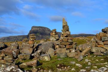 Stacked Wishing Rocks on the Isle of Skye in Scotland