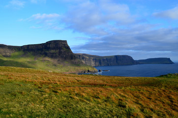 Gorgeous Landscape Views of Sea Cliffs on Skye Scotland
