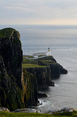 Towering Sea Cliffs at Neist Point on the Isle of Skye in Scotland