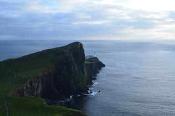 Rugged Rocky Sea Cliffs on Neist Point in Scotland