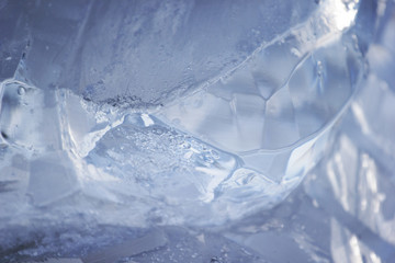 Arctic frozen ice background