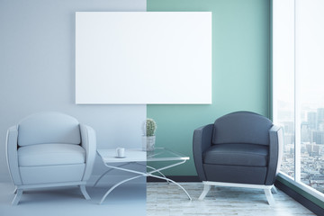 Creative interior with poster