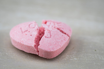 Low Angle Broken Love U Candy Heart