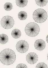 Seamless monochrome dandelion pattern. Vector background.