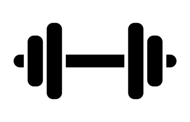 Dumbbell or dumbells weight training equipment flat vector icon for exercise apps and websites