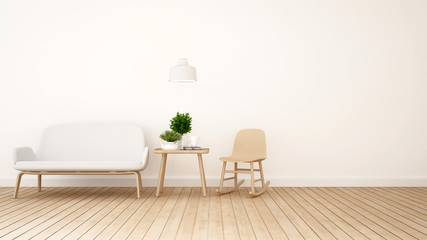 living room or kid room - 3D Rendering