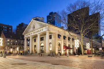 The Quincy Market at Night