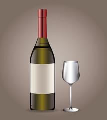 bottle wine drink image vector illustration eps 10