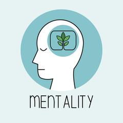 profile human head mentality vector illustration eps 10