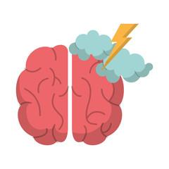 brain creativity storm ideas vector illustration eps 10