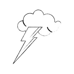 idea concept cloud lightning sketch vector illustration eps 10