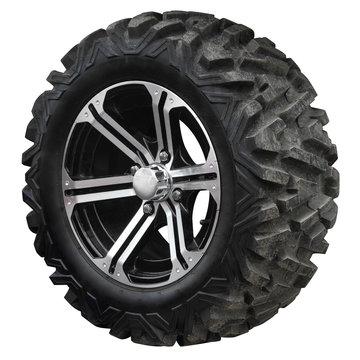 Wheel with high tread for ATV.