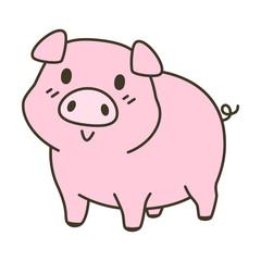 cute pig zodiac cartoon