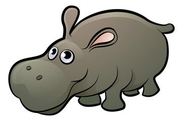 Hippo Safari Animals Cartoon Character