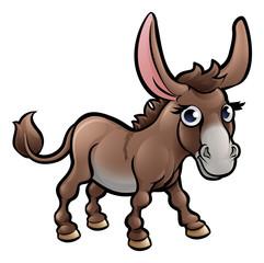 Donkey Farm Animals Cartoon Character