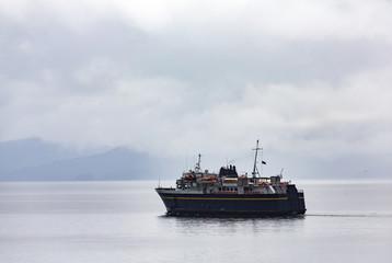 Ferry in Alaskan Mist