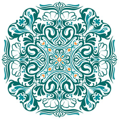 Vector Ornate Mandala. Decorative element. Hand drawn.
