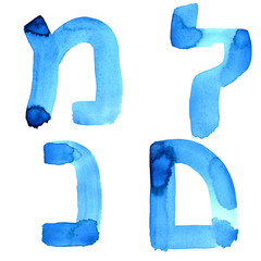Letters of hebrew alphabet