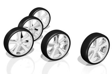 3D wheels, tires