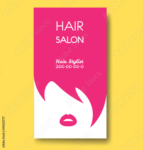 Hair salon business card templates with pink hair and pink lips hair salon business card templates with pink hair and pink lips flashek Choice Image