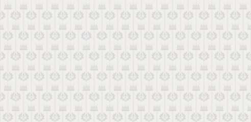 Seamless Damask Wallpaper Grey