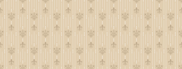 Seamless Royal Wallpaper Brown
