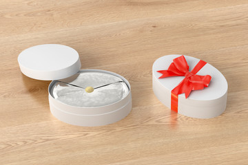Oval gift box