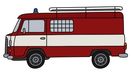 Classic fire patrol minivan