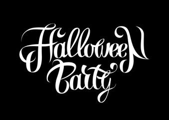 Vector illustration Halloween holiday lettering poster.