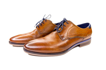 Pair of elegant men's leather shoes