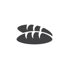 Bread icon in black on a white background. Vector illustration