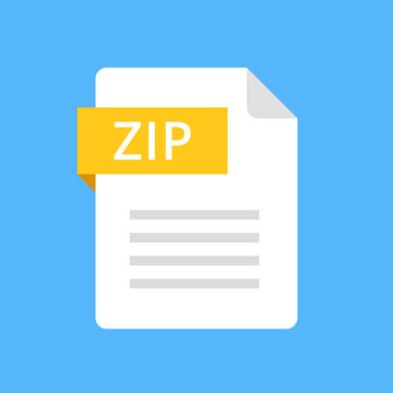 Zip file icon. Modern flat design graphic illustration. Vector zip icon