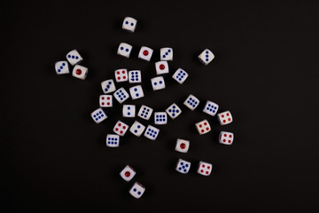 spread of black dice