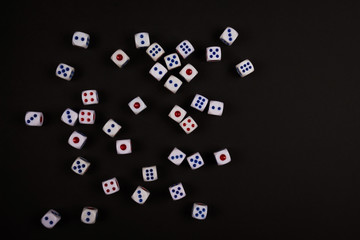 spread of luck black dice
