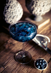 Blueberry night cocktail