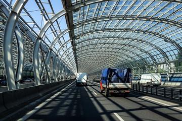 Motorway transport tunnel.