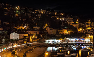 Croatia by night at Rabac