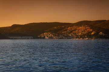 Sunset in Rabac in beautiful Croatia