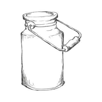 Milk can container icon vector illustration graphic design