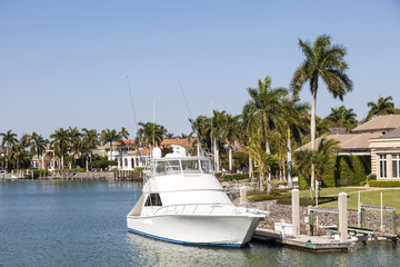 Fisihing boat in Naples, Florida