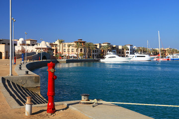 Port Ghalib, a beautiful port, marina and tourist town near Marsa Alam, Egypt.