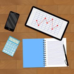Infochart report on tablet