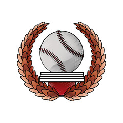 Baseball sport game icon vector illustration graphic design