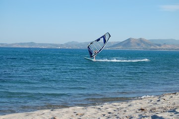 windsurf alla spiaggia dell'orvile (Posada)