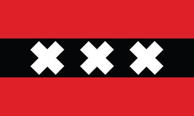 vector of amsterdam city flag