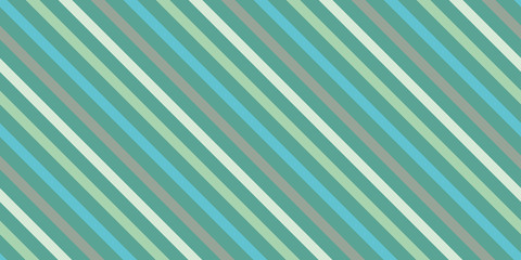Background with a slanted, diagonal stripes, lines. Different shades of green color. Vector illustration. Geometric background print on paper,fabric, gift wrap, packaging, bedding,  lining, apparel