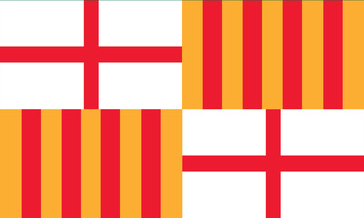 vector of barcelona flag